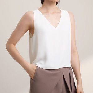 Babaton Silk Crop Tank Top